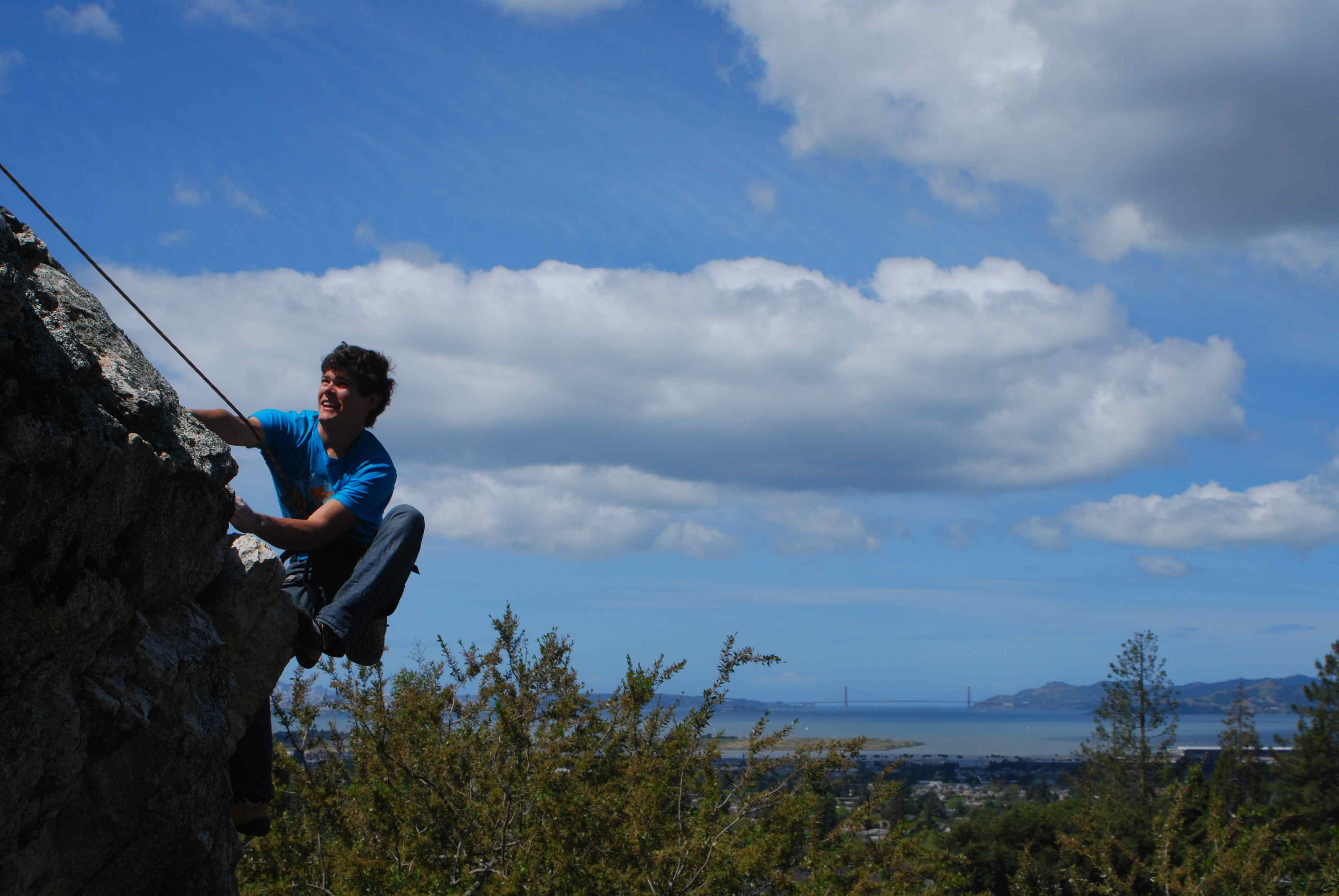 Ian climbing